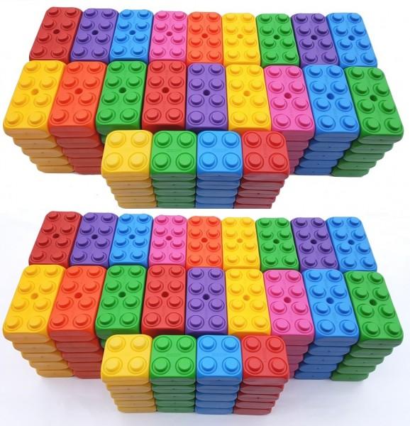 220 Stück Play Blocks große Spielbausteine, Bausteine, Fantasie Set