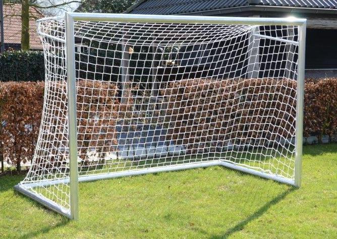aluminium tor fu balltor 3 x 2 m mit netz f r outdoor spielfuchs spielwaren und spielzeug. Black Bedroom Furniture Sets. Home Design Ideas