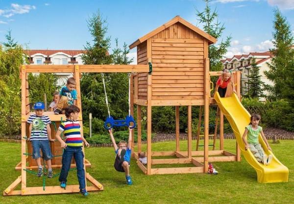 Spielturm mit Rutsche, Haus und Kletterturm FUNGOO MySIDE SPIDER