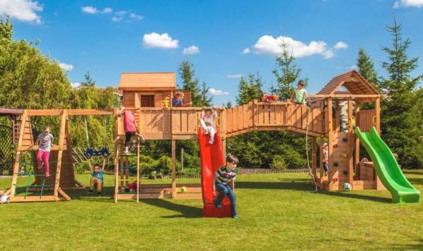 Spielturm Maxi Set Spider Land mit 2x Spielturm, 2x Rutsche, Kletterturm, Kletterwand