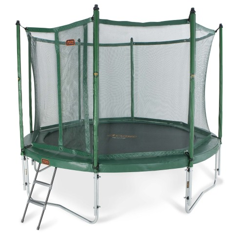 proline trampolin 3 65 m gr n mit fangnetz leiter bis 180 kg belastbar spielwaren online shop. Black Bedroom Furniture Sets. Home Design Ideas