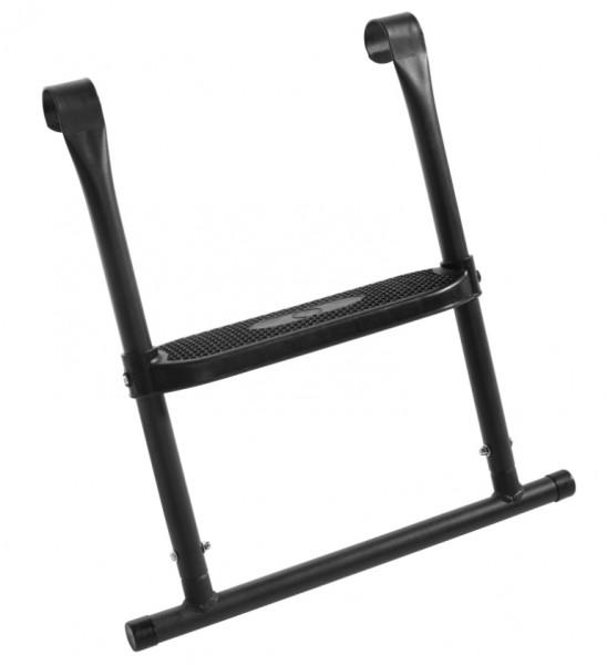 Leiter für die Trampolingrößen 1,83 m, 2,13 m und 1,53 x 2,14 m. Trampolin Leiter mit 1 Trittstufe - 55x52cm - Leiter zu verwenden für folgende Artikel: Ø 183cm -  Ø 213cm - rechteckig  153x214cm