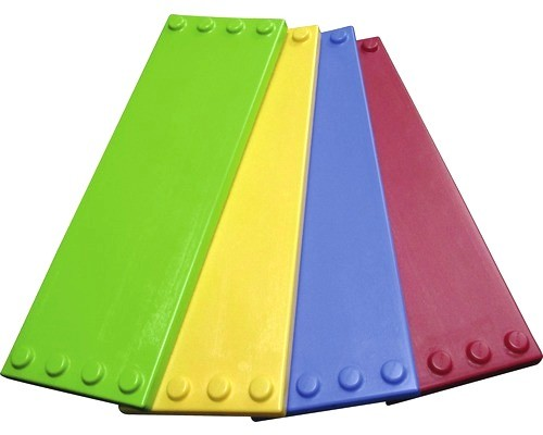 4 Stück Regalplatten, Grundplatten, Systemplatten für XXL Fun Blocks Spielbausteine