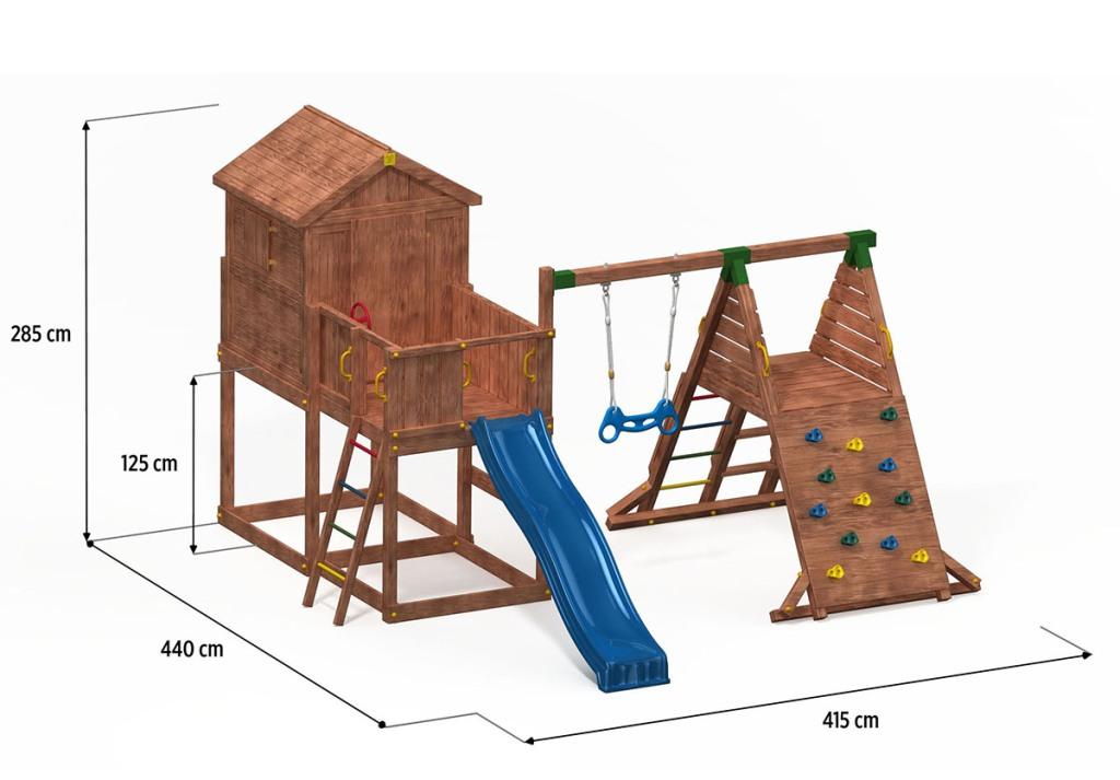 fungoo spielturm my house spider aus holz mit rutsche. Black Bedroom Furniture Sets. Home Design Ideas