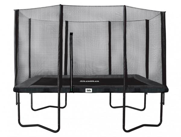 Salta Trampolin 2,13 x 3,05 m, Premium Black mit Fangnetz, Schutzrand bis 150 kg belastbar