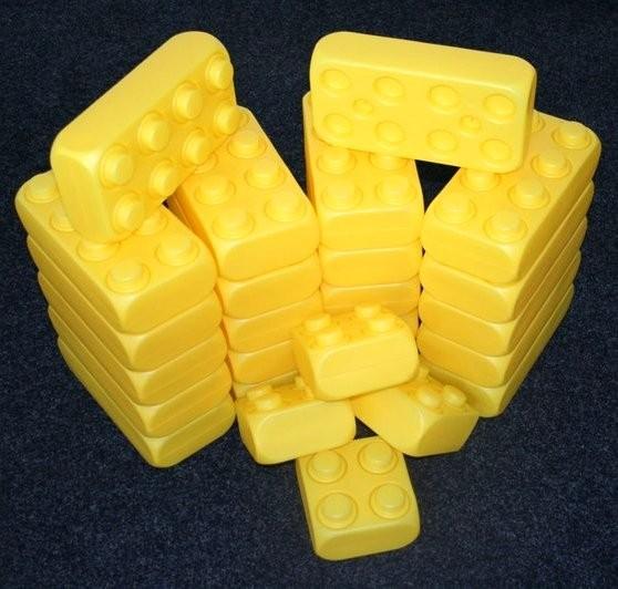 26 Stück XXL Fun-Blocks gelb Ergänzungs Set, Spielbausteine, Bausteine von ESDA