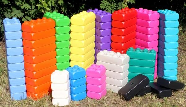 XXL Fun-Blocks Jumbo Set Spielbausteine, Spielsteine, Jumbo Riesen Bau-steine