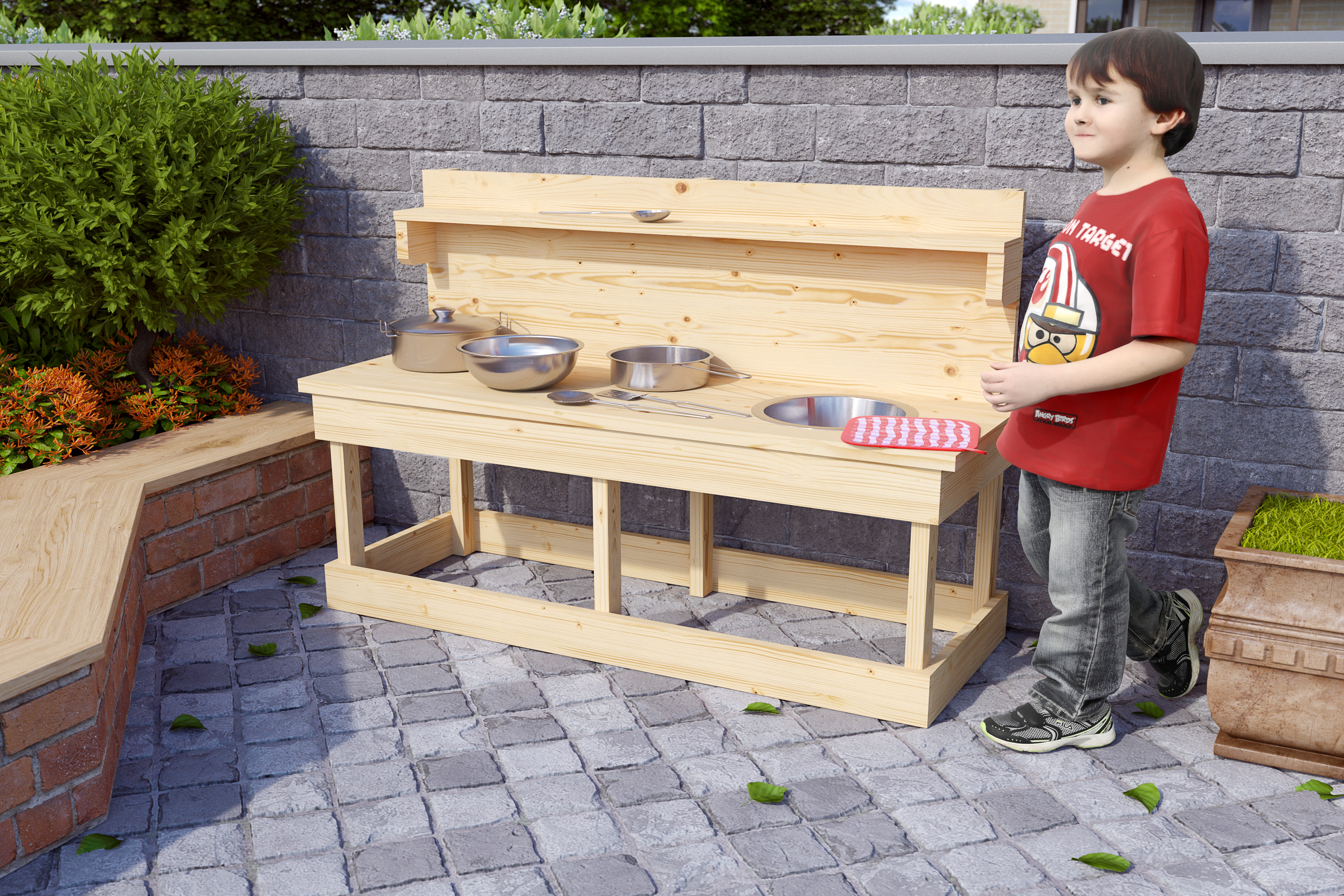Outdoorküche Kinder Joy : Matschküche sandy mit topfset kinderküche outdoor sandküche