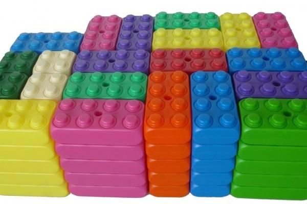 ESDA 110 Stück große Play-Blocks Fantasie Set, Spielbausteine