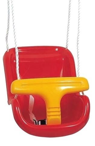 Baby Schaukelsitz rot, Sitz für Schaukel, Doppelschaukel, Einzelschaukel