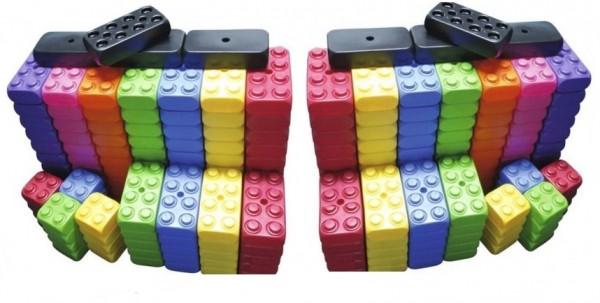 212 Stück XXL Fun Blocks Spielbausteine, Jumbo Bausteine, Bausteine