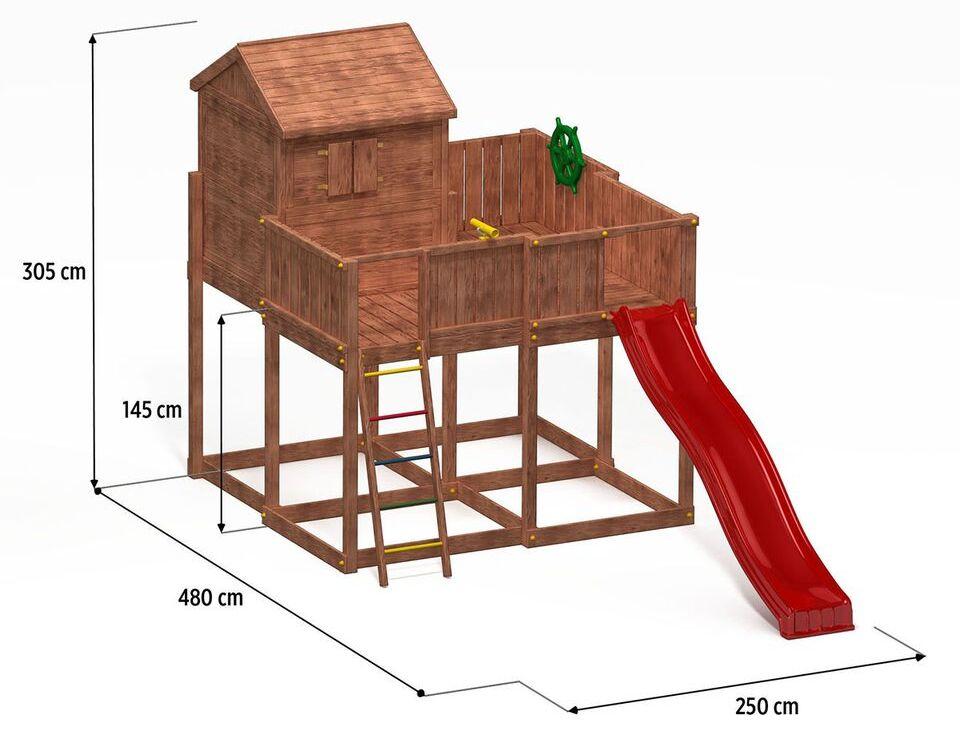 fungoo spielturm my space xl aus holz mit rutsche. Black Bedroom Furniture Sets. Home Design Ideas