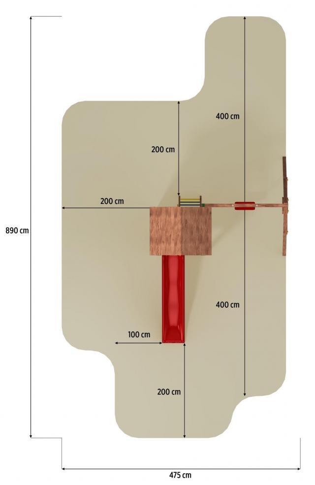 fungoo spielturm carol 2 aus holz bis 350 kg belastbar mit rutsche blau holzdach. Black Bedroom Furniture Sets. Home Design Ideas
