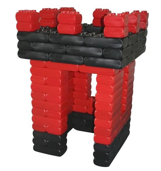 128 Stück XXL Fun-Blocks Ritterburg rot-schwarz, Spielbausteine, Bausteine von ESDA
