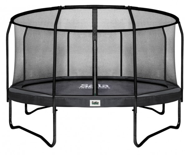 salta trampolin 3 66 m premium black mit fangnetz rund. Black Bedroom Furniture Sets. Home Design Ideas