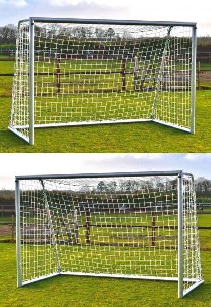 2 x Aluminium Fußballtor 3m x 2m mit Netz für den Garten, Outdoor Tor
