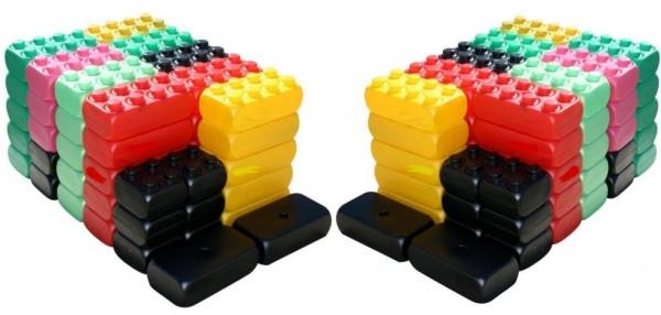 2. Wahl - 106 Stück XXL Fun Blocks Spielbausteine, Jumbo Bausteine, Bausteine