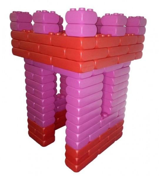 128 Stück XXL Fun-Blocks Prinzessinburg pink-rot, Spielbausteine, Bausteine von ESDA