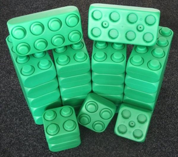 26 Stück XXL Fun-Blocks grün Ergänzungs Set, Spielbausteine, Bausteine von ESDA