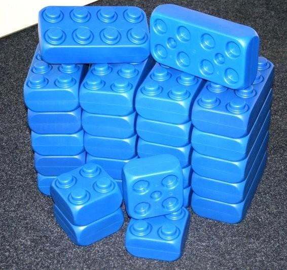26 Stück XXL Fun-Blocks blau Ergänzungs Set, Spielbausteine, Bausteine von ESDA