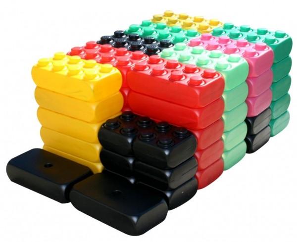 XXL Fun-Blocks Grund Set Spielbausteine, Spielsteine, Jumbo Riesen Bausteine