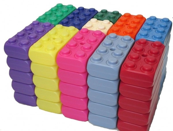 ESDA 55 Stück große Play-Blocks Ideen Set, Spielbausteine