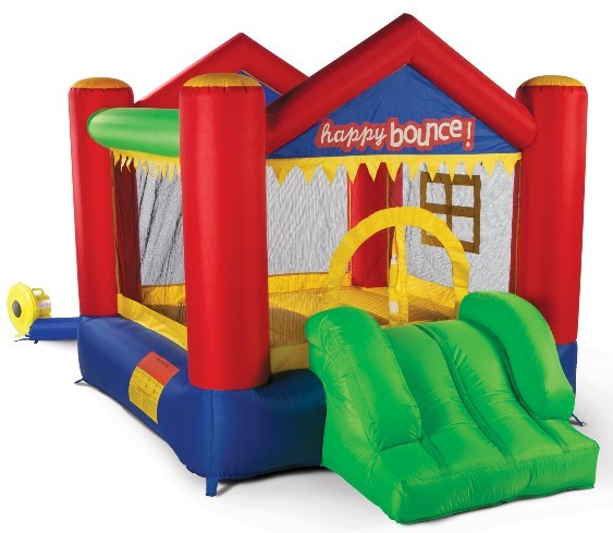 Hüpfburg Springburg Party House Fun mit Gebläse 2,80 x 2,10 m, belastbar bis 135 kg