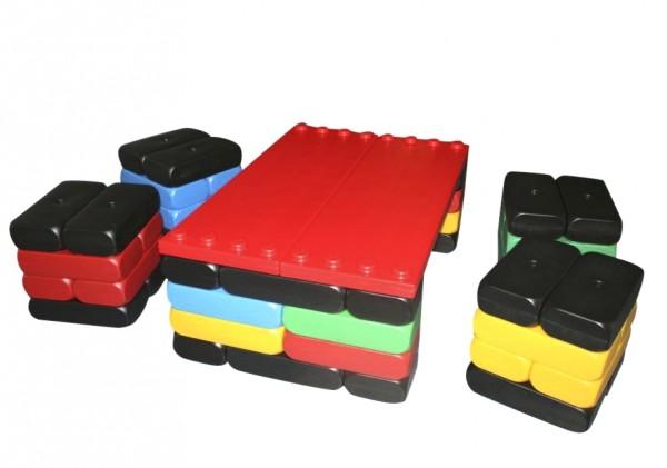 54 Stück XXL Fun Blocks als Sitzecke, Spielbausteine, Jumbo Bausteine, Bausteine