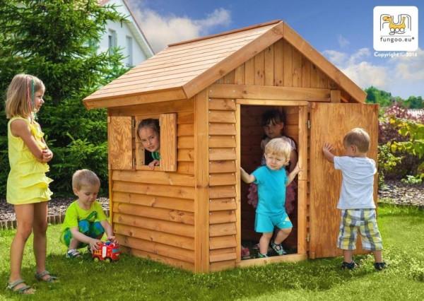 Spielhaus aus Holz, Kinderhaus, Holzhaus