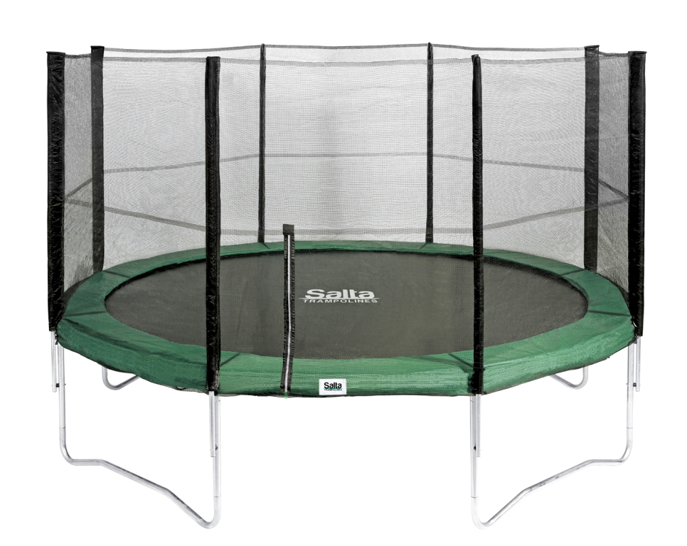 salta trampolin 4 27 m gr n combo mit fangnetz bis 150 kg belastbar spielfuchs spielwaren. Black Bedroom Furniture Sets. Home Design Ideas