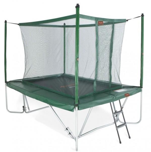 Proline Trampolin grün faltbar mit Fangnetz und Leiter 3x2,25 m