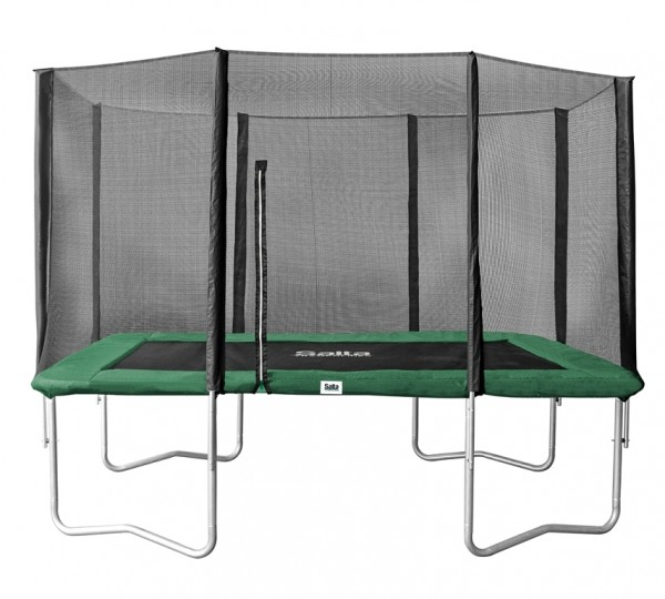 Salta Trampolin 1,53 x 2,14 m, grün, Combo mit Fangnetz