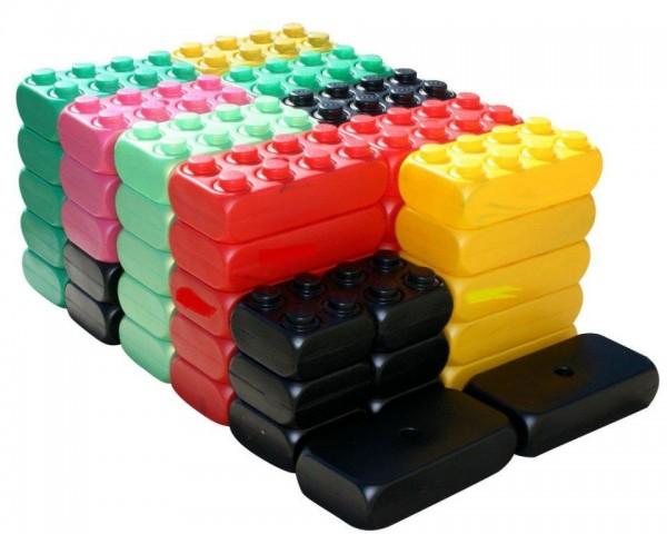 2. Wahl - 53 Stück XXL Fun Blocks Spielbausteine, Jumbo Bausteine, Bausteine
