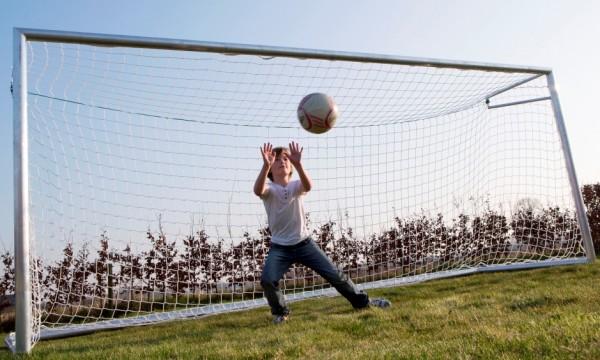 Aluminium Fußballtor mit Netz 4m x 2m für den Outdoor Bereich
