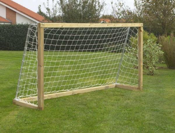 Fußballtor aus Holz mit Netz 240x128x70 cm