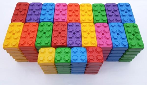 110 Stück Play-Blocks Fantasie Set, große Spielbausteine, Bausteine von ESDA