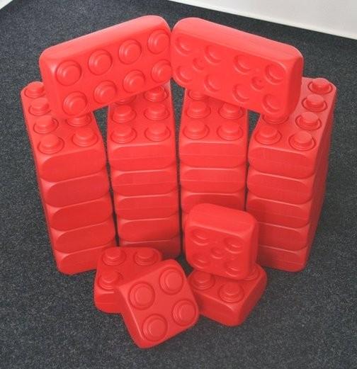 26 Stück XXL Fun-Blocks rot Ergänzungs Set, Spielbausteine, Bausteine von ESDA
