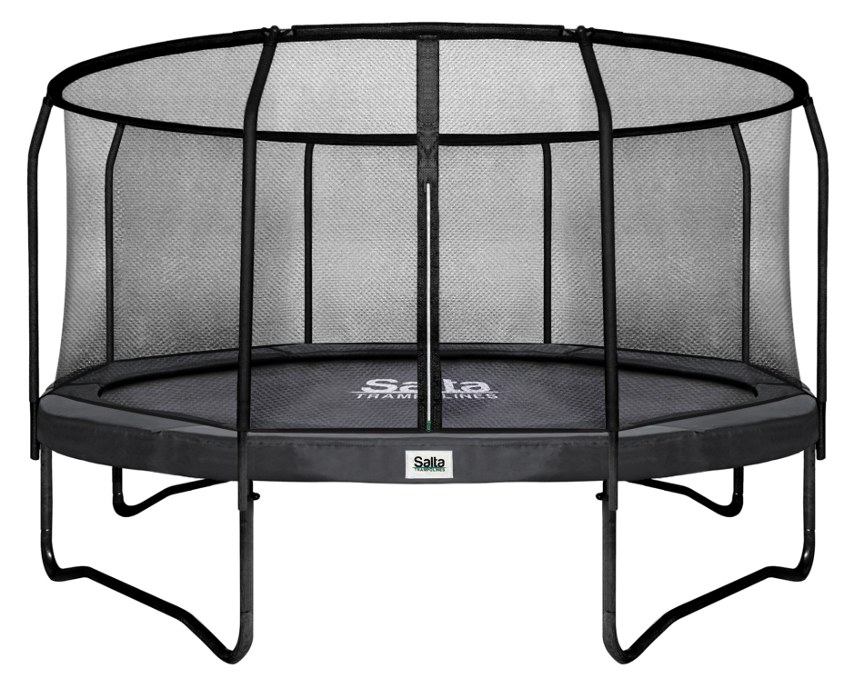 salta trampolin rund 4 27 m premium black mit fangnetz schutzrand bis 150 kg belastbar. Black Bedroom Furniture Sets. Home Design Ideas