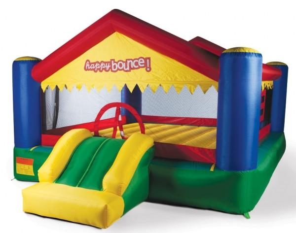Hüpfburg Springburg Party House Big mit Gebläse 4,00 x 5,00 m von Avyna, belastbar bis 225 kg